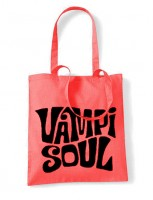 Vampisoul Tote Bag - Red, White Logo