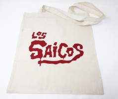 Saicos Tote Bag - Off White (red Logo)