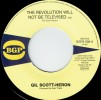 Portada de SCOTT, GIL-HERON - THE REVOLUTION WILL NOT BE TELEVISED